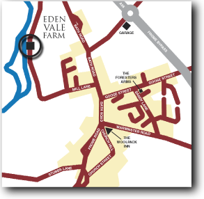 Map showing Eden Vale Farm